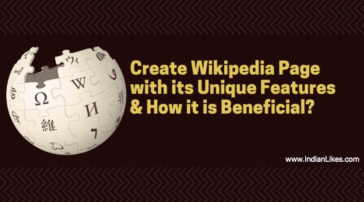 Create a Wikipedia page service in India